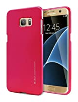 Galaxy S7 EDGE Case, [Ultra Slim Fit] Goospery® i-Jelly Case [Metallic Finish] Premium TPU Case Cover [Anti-Yellowing / Discoloring Finish] for Samsung Galaxy S7 EDGE - Metallic Hot Pink