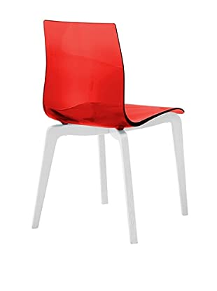 Domitalia Gel-L Chair, Transparent Red/White