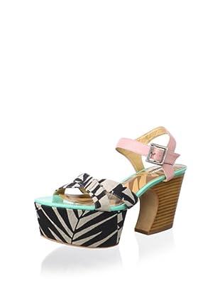 Matiko Women's Monacco 70's Sandal (Pink/Black)