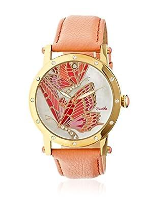 Bertha Uhr mit Japanischem Quarzuhrwerk Isabella koralle 41 mm