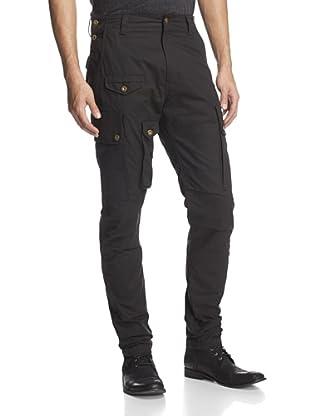 PRPS Men's Cargo Pant with Grommet Details (Black)