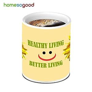 HomeSoGood Sun Flower For Healthy Living Coffee Mug
