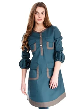 Almatrichi Vestido Helena (petróleo)