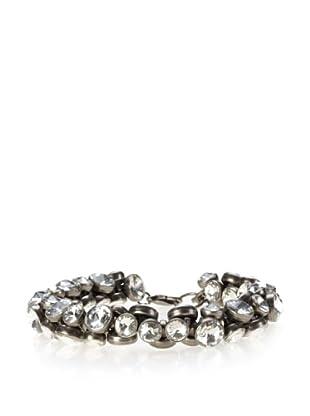 Rebecca Minkoff Light Antique Silver Bubbled Jewel Bracelet