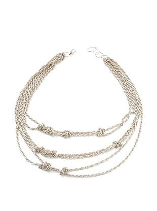 Amrita Singh Collar Aztec Knot Plateado
