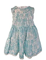Faye Aqua Printed Cotton Dress 4-5 Y