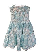 Faye Aqua Printed Cotton Dress 3-4 Y