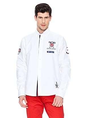 Valecuatro Camisa Parche Inglaterra (Blanco)