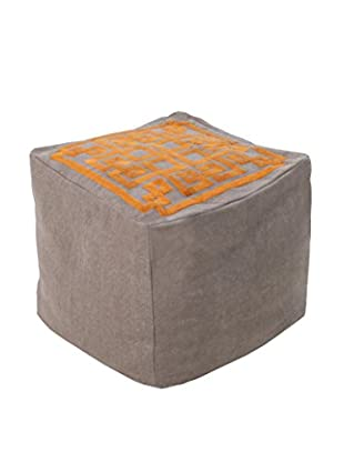 Surya Grammercy Pouf, Taupe