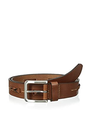 Trafalgar Men's Braid Inlay Belt (Tan)
