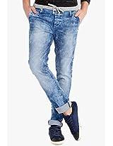 Washed Blue Slim Fit Jeans Locomotive