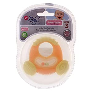 Nuby - Softees Teether Hard and Soft Step 3 Yellow