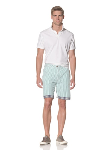 Tailor Vintage Men's Reversible Short (Kiwi/Navy Plaid)
