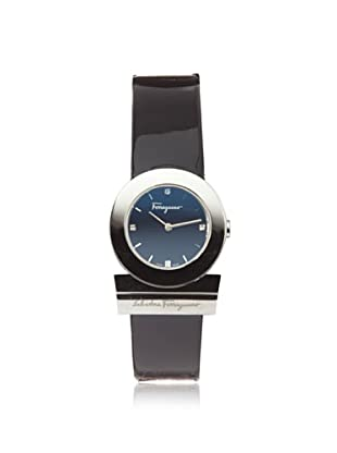Ferragamo Women's F56SBQ9909S S009 Gancino Diamond Black Patent Band Logo Watch