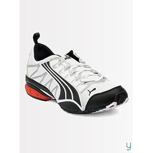 Puma Men 18175601 Surge White Black Flame Scarlet Sports Shoes