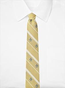 Original Penguin Men's Ocean Stripe Tie (Yellow)