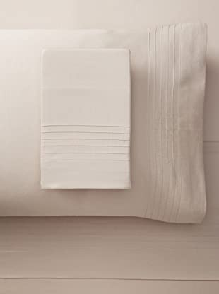 Nine Space Organic Cotton Pleated Sheet Set (Natural)