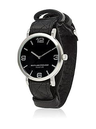 South Lane Reloj de cuarzo Unisex South Lane Signature Collaboration Black Quilted Leather 40 mm