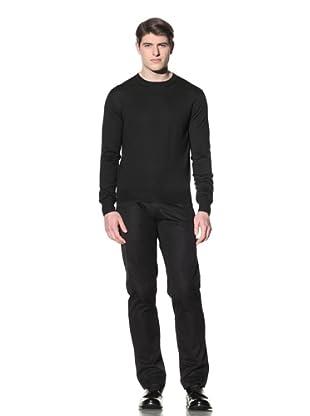 Cruciani Men's Crew Neck Knit Sweater (Dark Green)