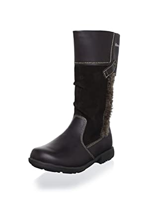 Billowy Kid's Contrast Tall Boot (Brown)