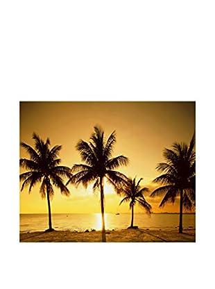 LegendArte  Wandbild Palmen am Sonnenuntergang