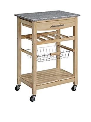 Linon Home Décor Kitchen Island Granite Top, Natural