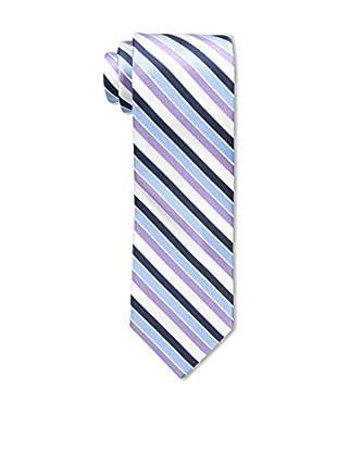 Bruno Piattelli Men's Stripe Silk Tie, Purple