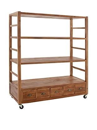 Rolling Shelf, Brown