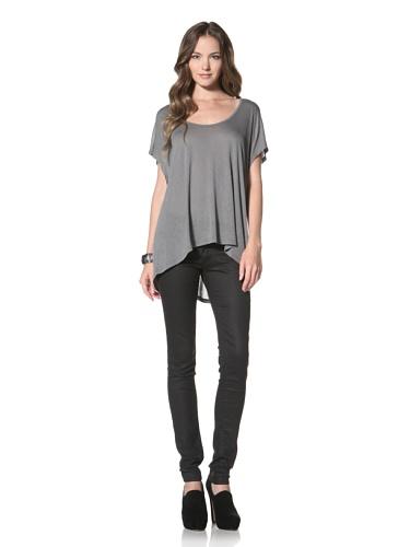 Nation LTD by Jen Menchaca Women's Magnolia Short Sleeved T-Shirt (blue sage)