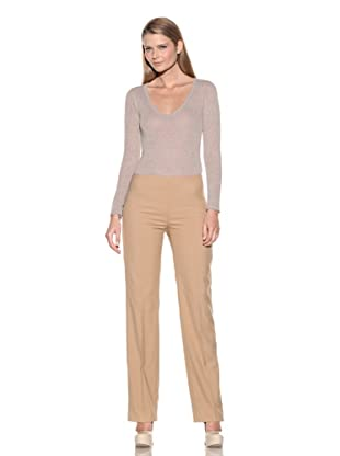 Loro Piana Women's Beguin Cadeau Side-Zip Pants (Ecru)