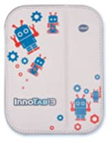 Childrens Vtech Innotab Software & Accessory Christmas Gift Bundle 3 Items: V Tech Innotab 3 Silver Folio Case, Orange Gel Skin, & Turbo Software