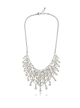 Chloe & Theodora Cubic Zirconia and Simulated Pearl Cluster Necklace