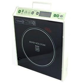 【クリックでお店のこの商品のページへ】DRETEC IH電磁調理器 グリーン DI-101GNY
