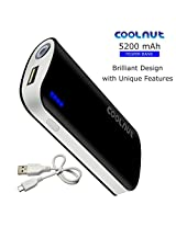 COOLNUT® Power Bank 2600mah, Portable Universal USB Backup Battery Charger 2600mAh Power Bank For Mobile