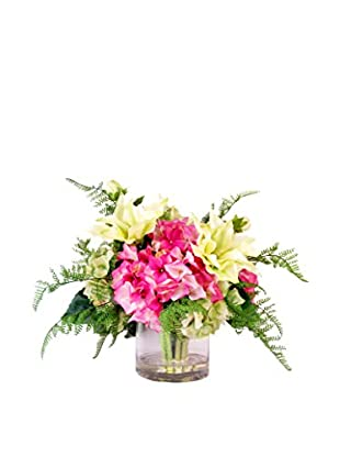 Creative Displays Clematis & Hydrangea Water Floral, Pink/White/Green