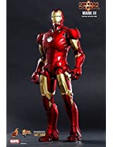 Hot Toys Mms256d07 Iron Man Mark3 Mk3 Diecast Exclusive Bonus Limited Edition Avengers Tony Stark 1/6th Scale Collectible Figure