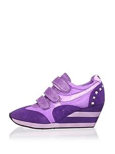 Ash Women's Alfa Wedge Sneaker (Purple)