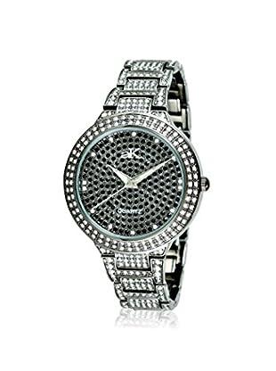 Adee Kaye Women's 9-69LIPB/CR Black/Crystal Brass Watch