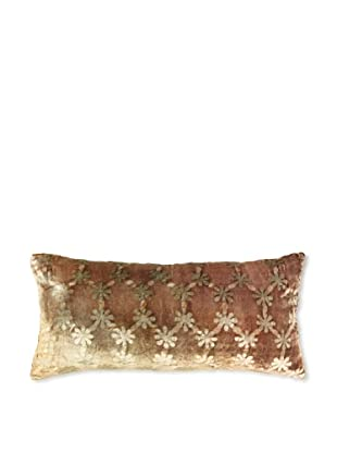 Kevin O'Brien Studio Ditsy Velvet Pillow, Olive/Taupe, 8