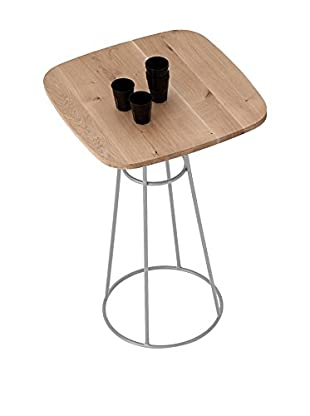 Domitalia Barrique Table, Aluminum/Light Wood