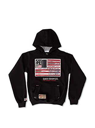 Gangster Unit Sudadera Flagamerica Boy (Negro)
