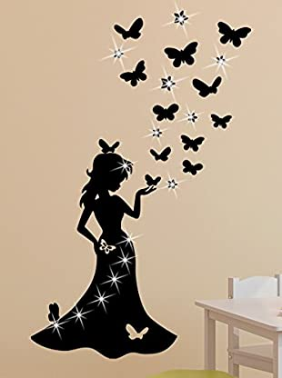 Ambiance Sticker Vinilo Adhesivo De Princesa Con 15 Swarovski® Elements
