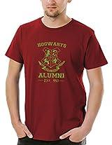 Socratees Men's Harry Potter Hogwarts Alumni T-shirt - Maroon