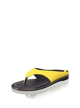 Donald J Pliner Women's Gogo Flat Thong Sandal (Sungold)