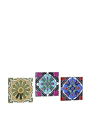 Dekorjinal Set, 3-teilig dekoratives Bild Ahm010 (mehrfarbig)