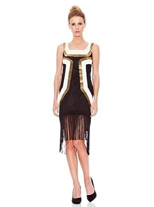 Rare Vestido Metalic (Negro / Dorado)