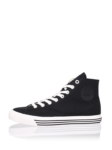 PRO-Keds Men's 69er Hi Canvas Sneaker (Black/White)