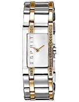 Esprit Two-Tone Houston Analog White Dial Women's Watch - ES000M02084