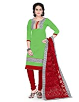 Ritiriwaz Apple Green Printed Suit with matching duppata WFI3811