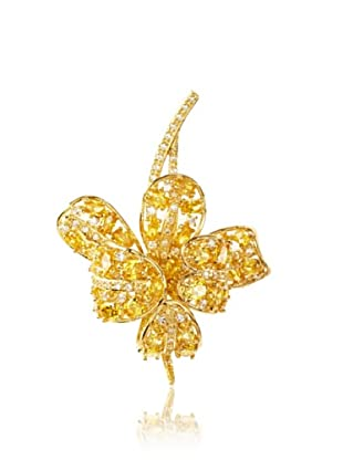 CZ by Kenneth Jay Lane 18K Gold-Plated Yellow Flower Pin